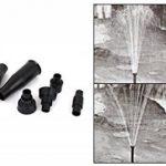 Sourcingmap 4style Tête de Fontaine cascade Embout en Plastique Noir pour bassin de jardin de la marque Sourcingmap image 1 produit