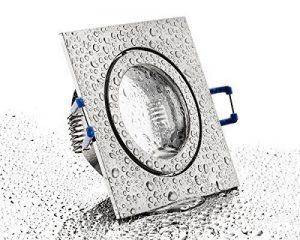 Spot encastrable MR16Lampe Fonte d'Aluminium IP44salle de bain–chromé mat–cadre de montage avec fermeture à clic et verre–pour pièces humides salle de bain de la marque HAVA image 0 produit