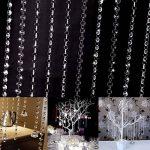 Starsglowing 10 x 1M Guirlande Perles Cristal Acrylique Garland Octogonales Décoration Perle Chaîne Mariage Fêtes DIY (clear) de la marque Starsglowing image 3 produit