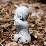 Statue 3 x Bouddha Moine de pierre, sont expédiés, au gel jusque -30 °c , en massif pierre … de la marque Stone and Style image 3 produit