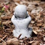 Statue 3 x Bouddha Moine de pierre, sont expédiés, au gel jusque -30 °c , en massif pierre … de la marque Stone and Style image 4 produit