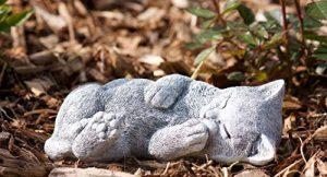 Statue chat chiot rêve, sont expédiés, au gel jusque -30 °c , en massif pierre de la marque Stone and Style image 0 produit