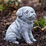 Statue chien Carlin, au gel et aux intempéries-massif en pierre … de la marque Stone and Style image 2 produit