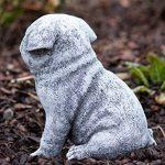 Statue chien Carlin, au gel et aux intempéries-massif en pierre … de la marque Stone and Style image 4 produit