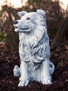 Statue chien Collie, au gel et aux intempéries-massif en pierre … de la marque Stone and Style image 0 produit