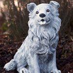 Statue chien Collie, au gel et aux intempéries-massif en pierre … de la marque Stone and Style image 1 produit
