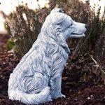 Statue chien Collie, au gel et aux intempéries-massif en pierre … de la marque Stone and Style image 2 produit