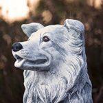 Statue chien Collie, au gel et aux intempéries-massif en pierre … de la marque Stone and Style image 3 produit