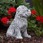 Statue chien Shih-Tzu, au gel et aux intempéries-massif en pierre … de la marque Stone and Style image 1 produit