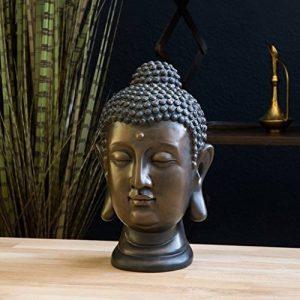 Statue de Bouddha, figure 30cm, décoration pour salon jardin ou balcon de la marque INtrenDU image 0 produit