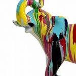 Statue éléphant décoration multicolore - style design moderne de la marque Meubletmoi image 1 produit