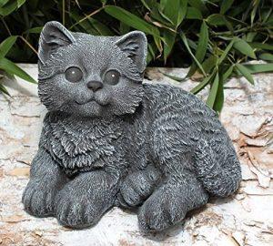 Statue en pierre chat assis, gris ardoise, pierre reconstituée de la marque Tiefes Kunsthandwerk image 0 produit
