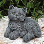 Statue en pierre chat assis, gris ardoise, pierre reconstituée de la marque Tiefes Kunsthandwerk image 1 produit