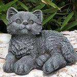 Statue en pierre chat assis, gris ardoise, pierre reconstituée de la marque Tiefes Kunsthandwerk image 2 produit