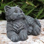 Statue en pierre chat assis, gris ardoise, pierre reconstituée de la marque Tiefes Kunsthandwerk image 3 produit