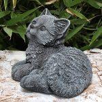 Statue en pierre chat assis, gris ardoise, pierre reconstituée de la marque Tiefes Kunsthandwerk image 4 produit