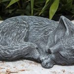 Statue en pierre chat endormi, gris ardoise, pierre reconstituée de la marque Tiefes Kunsthandwerk image 3 produit