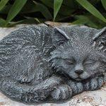 Statue en pierre chat endormi, gris ardoise, pierre reconstituée de la marque Tiefes Kunsthandwerk image 4 produit