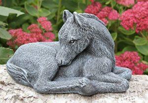 Statue en pierre cheval, petit format, gris ardoise, pierre recomposée de la marque Tiefes Handicraft image 0 produit