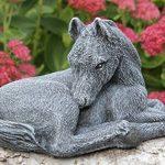 Statue en pierre cheval, petit format, gris ardoise, pierre recomposée de la marque Tiefes Handicraft image 1 produit