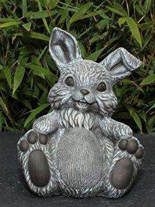 Statue en pierre lièvre assis, gris ardoise, pierre reconstituée de la marque Tiefes Kunsthandwerk image 0 produit