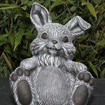 Statue en pierre lièvre assis, gris ardoise, pierre reconstituée de la marque Tiefes Kunsthandwerk image 1 produit
