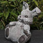 Statue en pierre lièvre assis, gris ardoise, pierre reconstituée de la marque Tiefes Kunsthandwerk image 3 produit