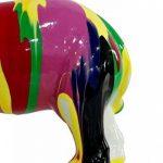 Statue éléphant décoration multicolore - style design moderne de la marque Meubletmoi image 2 produit