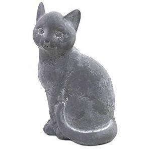 Statue Sculpture Chat en Ciment 25 cm de la marque chemin_de_campagne image 0 produit