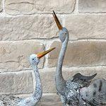 Statue Sculpture Couple Cigogne en Fer Oiseaux de la marque chemin_de_campagne image 2 produit