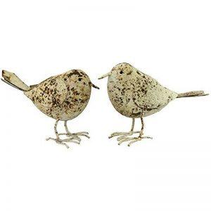 Statue Sculpture Couple d'Oiseaux Beige en Fer de Jardin de la marque chemin_de_campagne image 0 produit