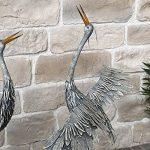 Statue Sculpture Héron Oiseau Couple de Hérons en Fer Oiseaux de Jardin 120 cm de la marque chemin_de_campagne image 4 produit