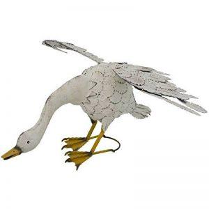 Statue Sculpture Oie en Fer Oiseau Oiseaux de Jardin 75 cm de la marque chemin_de_campagne image 0 produit