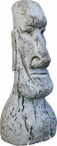 Statue Tête de Pâques Moai en pierre pour jardin ou jardin 120cm de la marque DEGARDEN image 0 produit