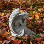 Statuette d'un ange endormi en pierre de fonte, résistant au gel de la marque gartendekoparadies.de image 1 produit