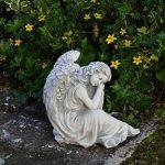 Statuette d'un ange endormi en pierre de fonte, résistant au gel de la marque gartendekoparadies.de image 2 produit