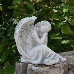 Statuette d'un ange endormi en pierre de fonte, résistant au gel de la marque gartendekoparadies.de image 4 produit