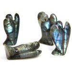 Statuette de poche, ange gardien guérisseur, pierre précieuse, 5,1 cm, Labradorite, Labradorite de la marque Amandastone image 3 produit