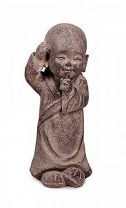Statuette ethnique : Petit moine debout Mod 1, Collection ZENTRENDS, Taupe, H 34 cm de la marque SG image 0 produit