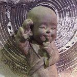 Statuette ethnique : Petit moine debout Mod 1, Collection ZENTRENDS, Taupe, H 34 cm de la marque SG image 3 produit