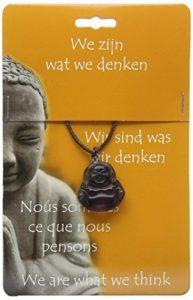 Steengoed Pendentif Bouddha, fluorite, pierre, Violet de la marque Steengoed image 0 produit
