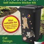 Stickers poubelle à roulettes–Chat/Chaton–Livraison gratuite de la marque Inconnu image 1 produit