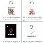 StillCool Lot de 100 Galet Pierres Lumineux Cailloux Artificiels Décoration Chemin de Jardin Aquarium Pot Décor Paysage Noctilucent (Bleu) de la marque StillCool image 3 produit