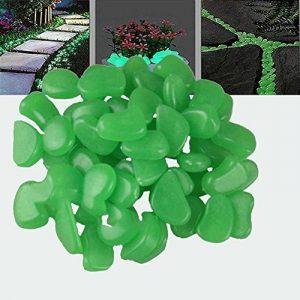 StillCool Lot de 100 Galet Pierres Lumineux Cailloux Artificiels Décoration Chemin de Jardin Aquarium Pot Décor Paysage Noctilucent (Vert) de la marque StillCool image 0 produit