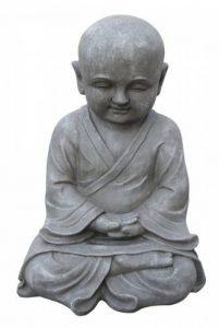 Stone-Lite BO 524 Statuette moine Shaolin en méditation Gris clair de la marque Stone-Lite image 0 produit