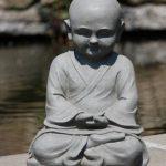 Stone-Lite BO 524 Statuette moine Shaolin en méditation Gris clair de la marque Stone-Lite image 2 produit