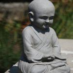 Stone-Lite BO 524 Statuette moine Shaolin en méditation Gris clair de la marque Stone-Lite image 3 produit