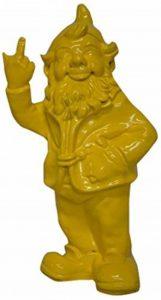 Stone-Lite - Statuette de nain de jardin faisant un doigt d'honneur - cadeau amusant - jaune - 30 cm de la marque Stoobz image 0 produit