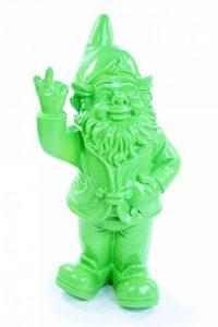 Stone-Lite - Statuette de nain de jardin faisant un doigt d'honneur - cadeau amusant - vert - 20 cm de la marque Stone-Lite image 0 produit