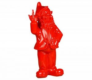 Stoobz PP 005RO 15x 12x 32cm Nain de Jardin malicieux pour la Maison et Le Jardin–Rouge de la marque Stoobz image 0 produit